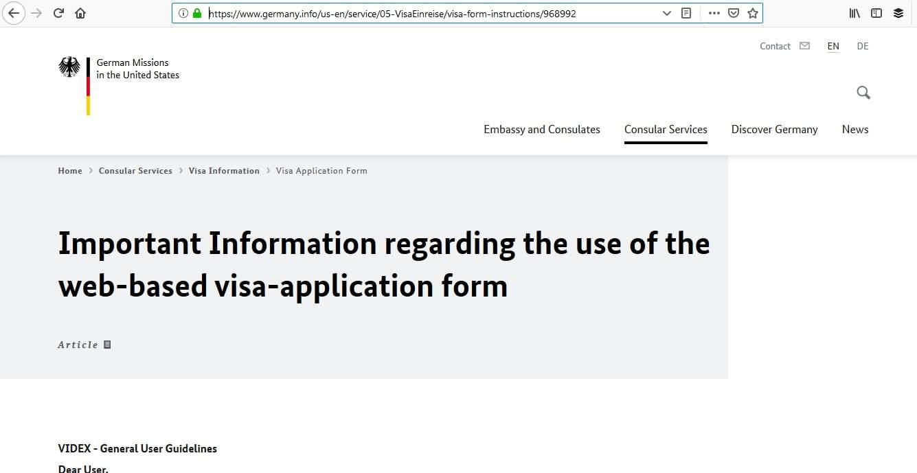 Germany Schengen Visa Washington DC Embassy Application Process6