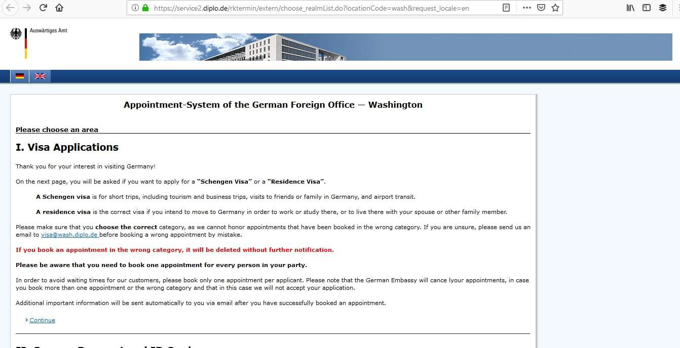 Germany Schengen Visa Washington DC Embassy Appointment3