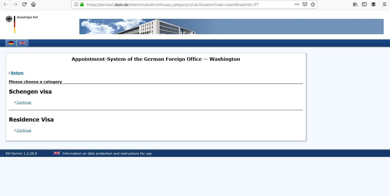 Germany Schengen Visa Washington DC Embassy Appointment4