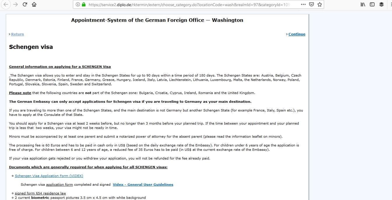 Germany Schengen Visa Washington DC Embassy Appointment5