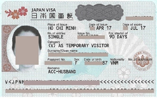 Japan Visa Sample