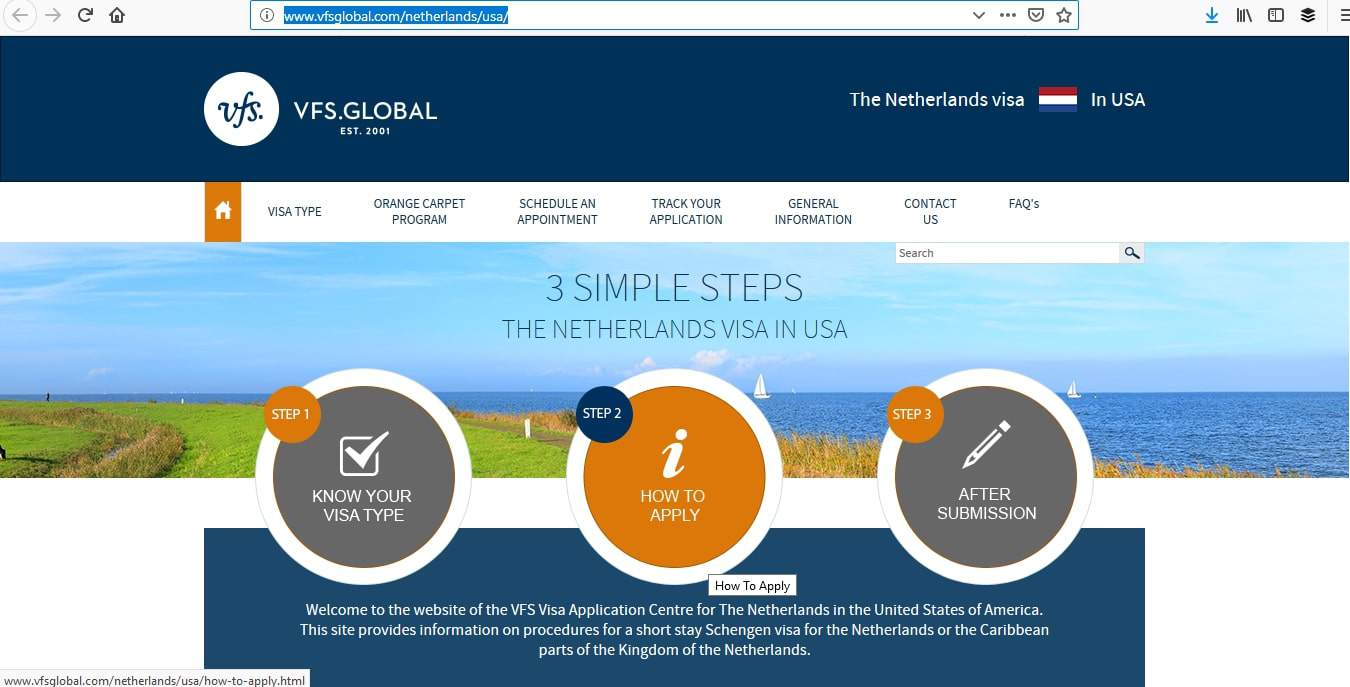Netherlands Schengen Visa Washington DC Embassy Appointment