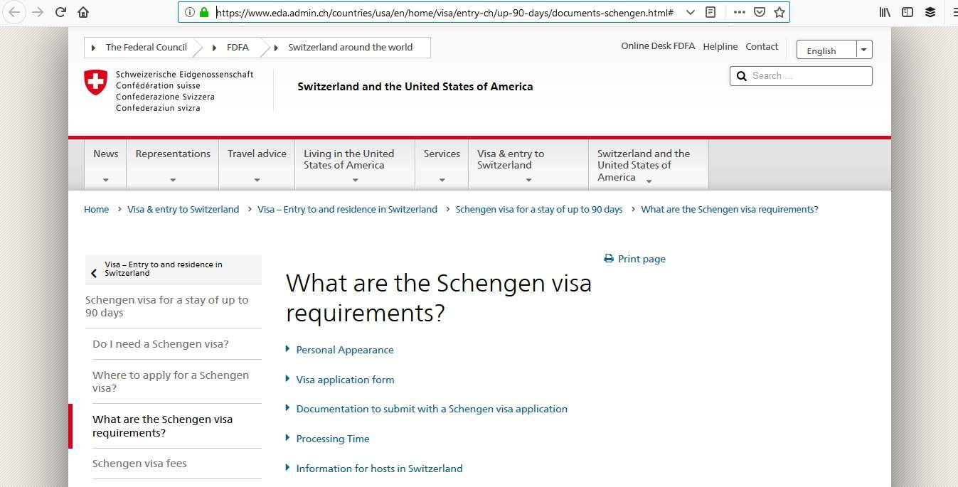 Switzerland Schengen Visa Atlanta Consulate Application Requirements