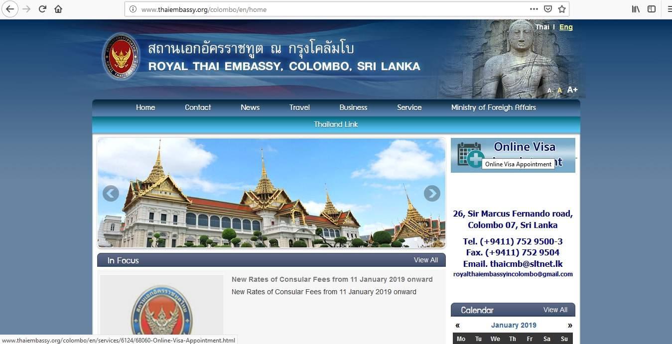 Thailand Embassy Sri Lanka