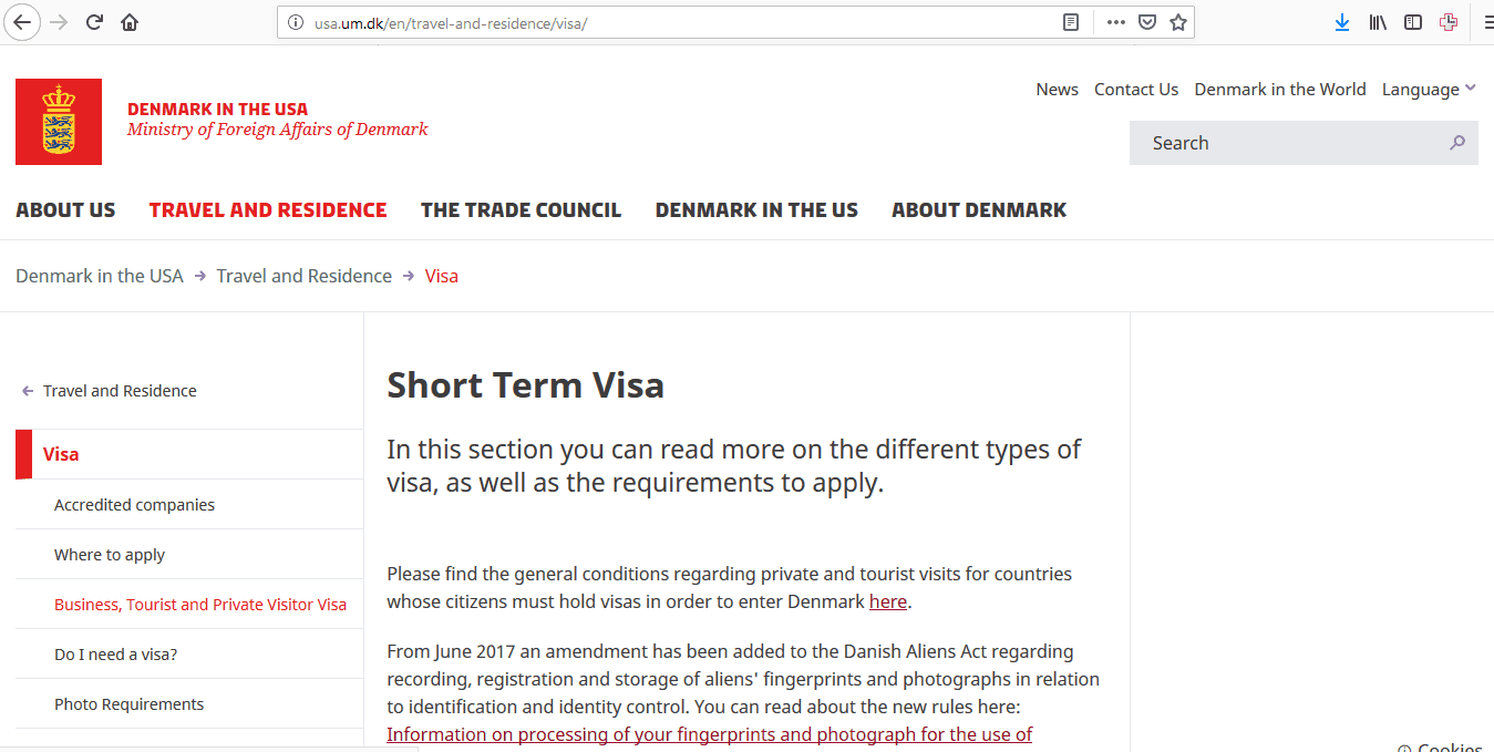 Denmark Schengen Visa Houston Consulate Application Form1