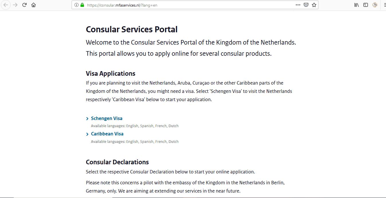 Netherlands Schengen Visa Houston Consulate Application Form3