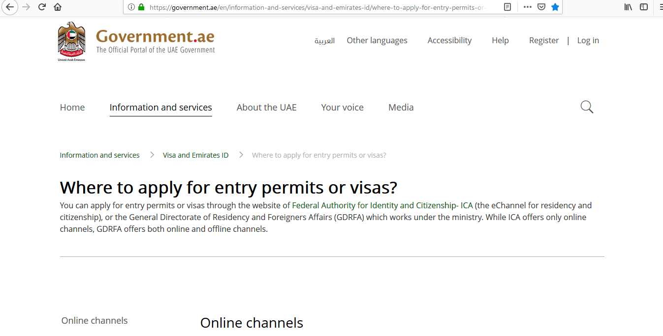 UAE Visa Application