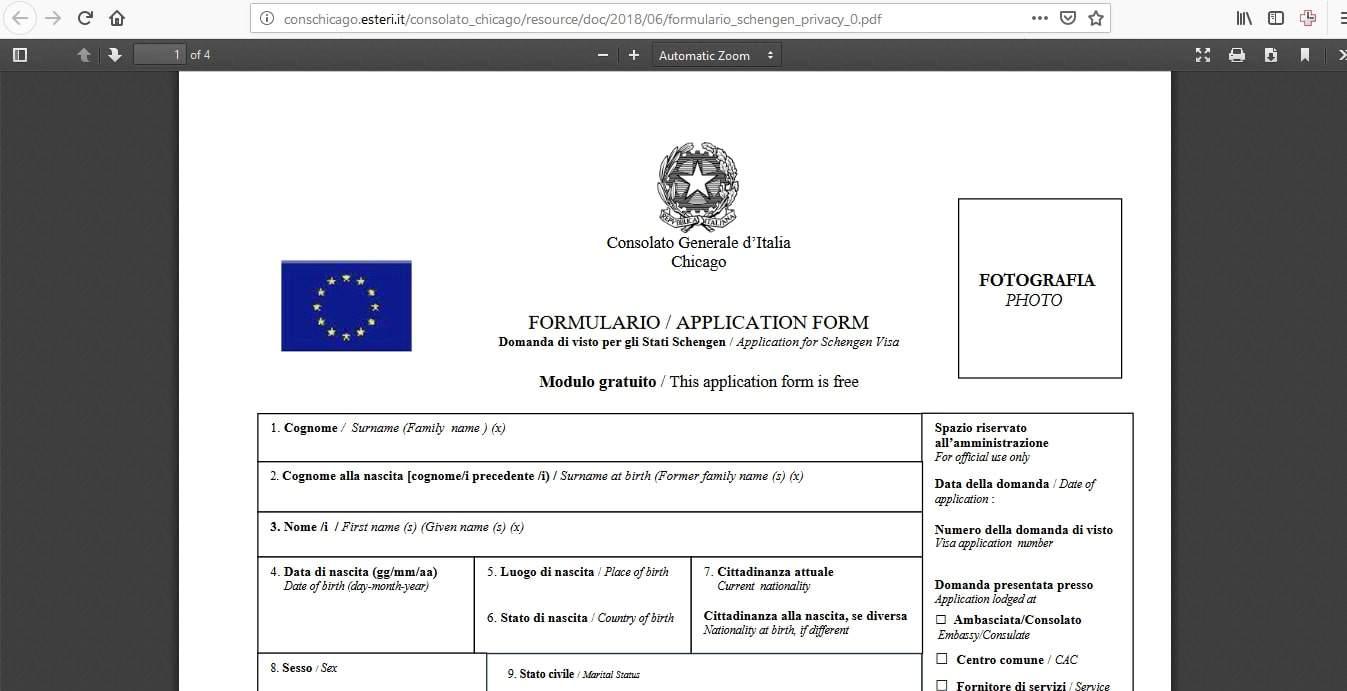 Estonia Schengen Visa Chicago Consulate Application Form2