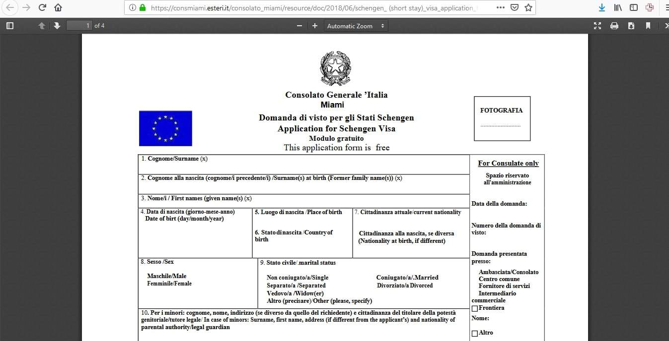 Estonia Schengen Visa Miami Consulate Application Form1