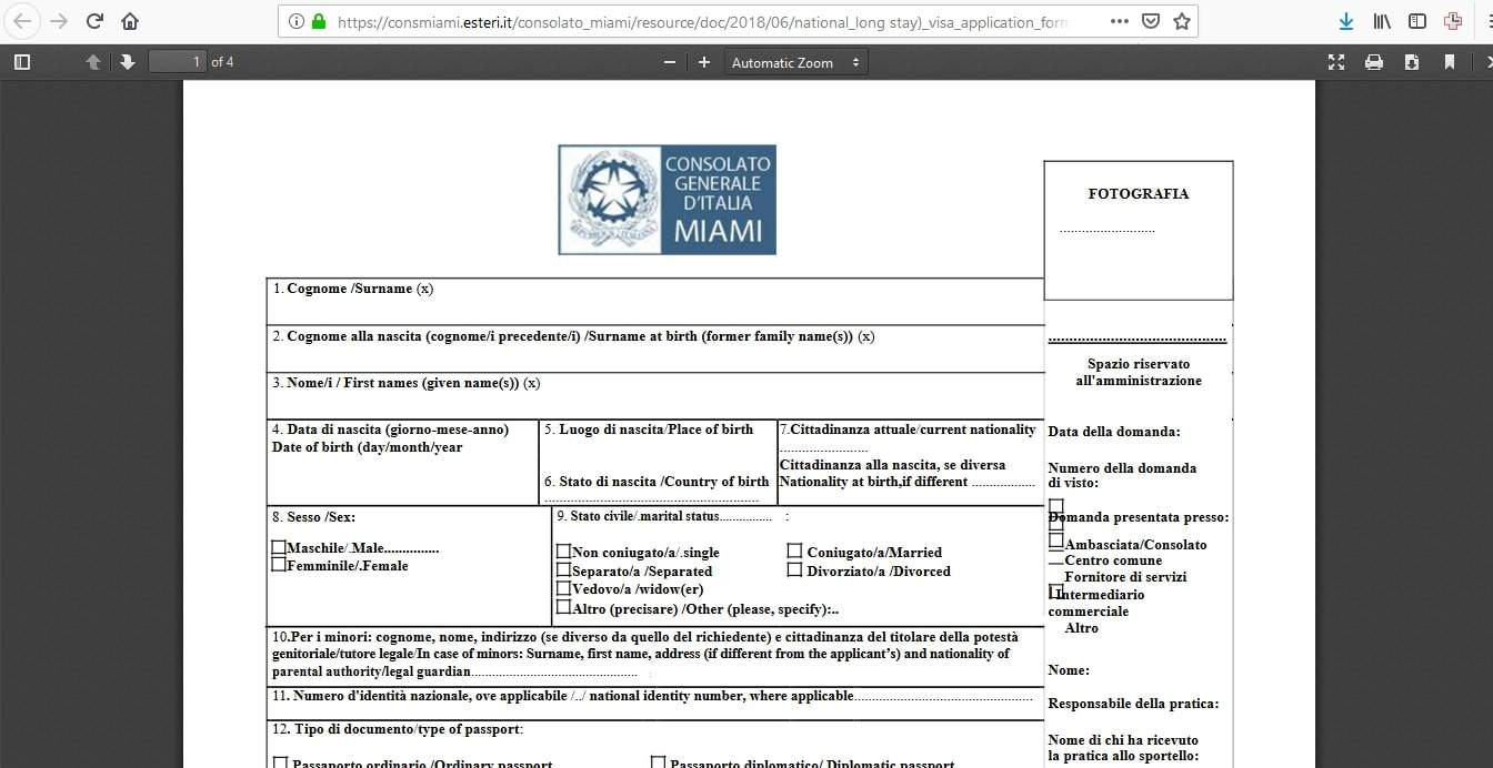 Estonia Schengen Visa Miami Consulate Application Form2