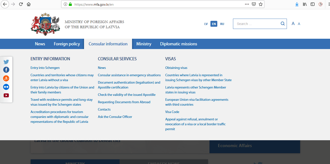 Estonia Schengen Visa Washington DC Embassy Application Form