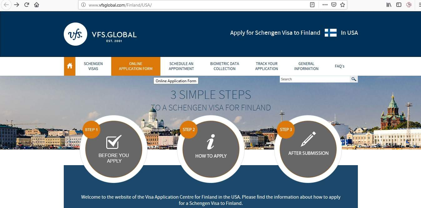 Finland Schengen Visa Chicago Consulate Application Form