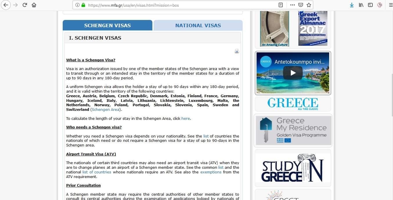 Greece Schengen Visa Boston Consulate Visas