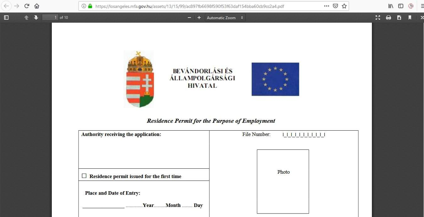 Hungary Schengen Visa Los Angeles Consulate Application Form4