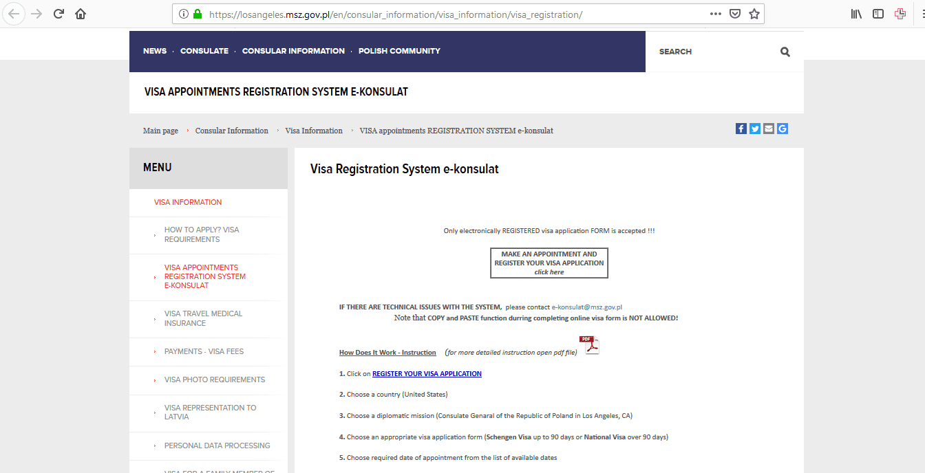 Latvia Schengen Visa Los Angeles Consulate Application Form
