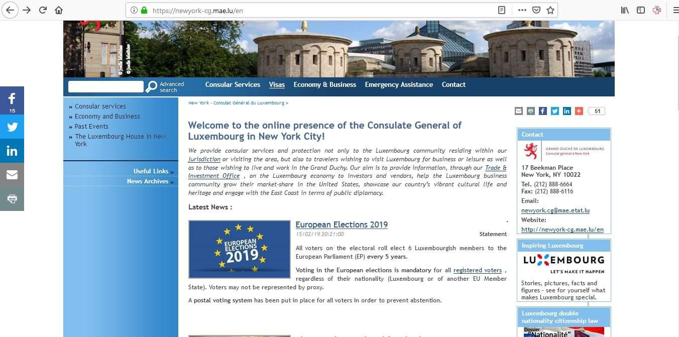 Luxembourg Schengen Visa New York Consulate Application Form