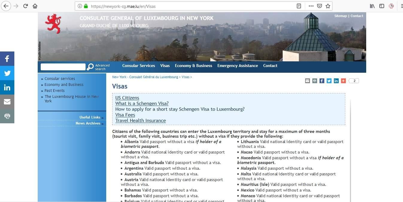 Luxembourg Schengen Visa New York Consulate Application Form1