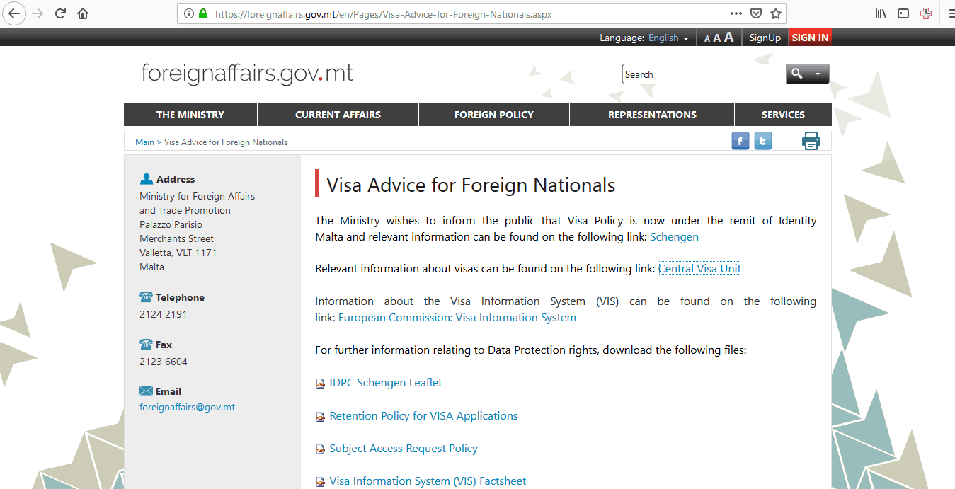 Malta Schengen Visa Washington DC Embassy Application Form1