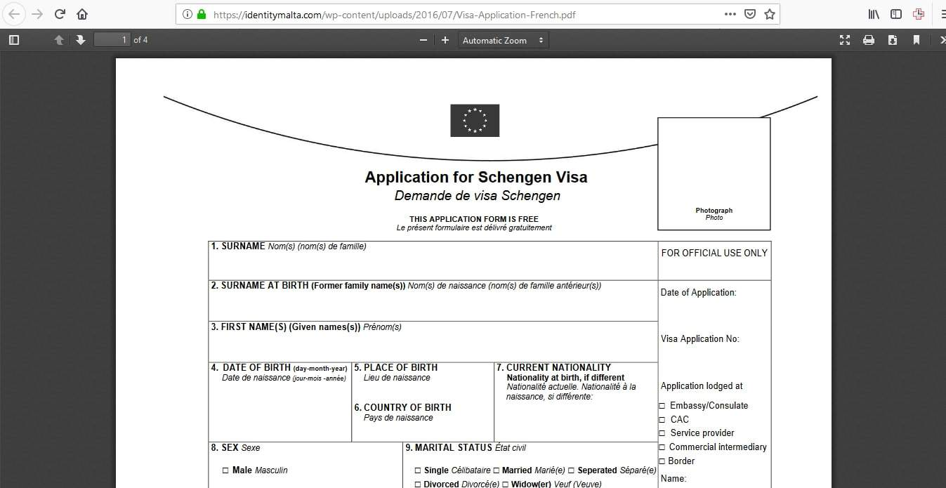 Malta Schengen Visa Washington DC Embassy Application Form4