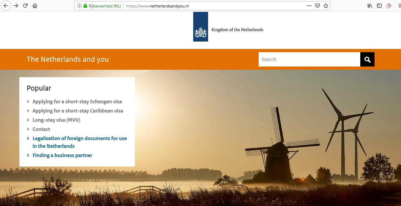 Netherlands Schengen Visa Chicago Consulate Application Form