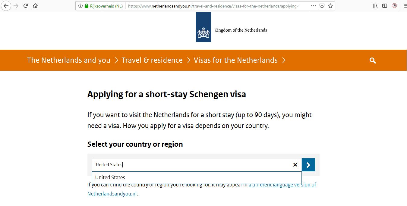 Netherlands Schengen Visa Chicago Consulate Application Form1