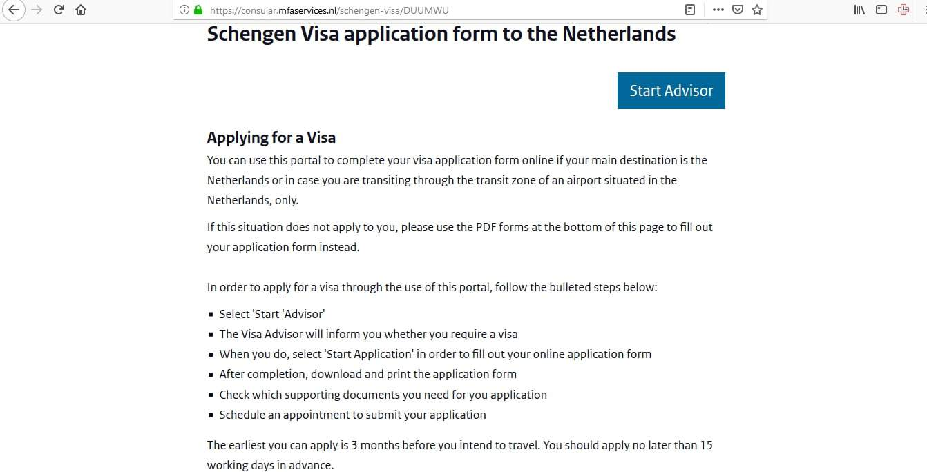 Netherlands Schengen Visa Chicago Consulate Application Form4