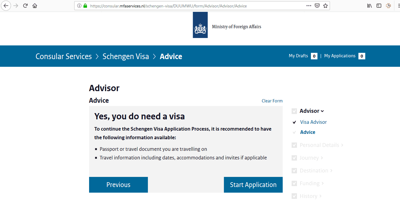 Netherlands Schengen Visa Chicago Consulate Application Form6