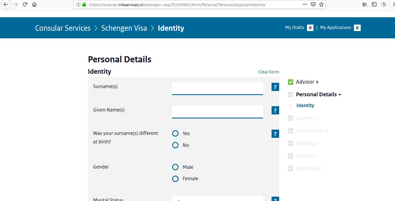 Netherlands Schengen Visa Chicago Consulate Application Form7
