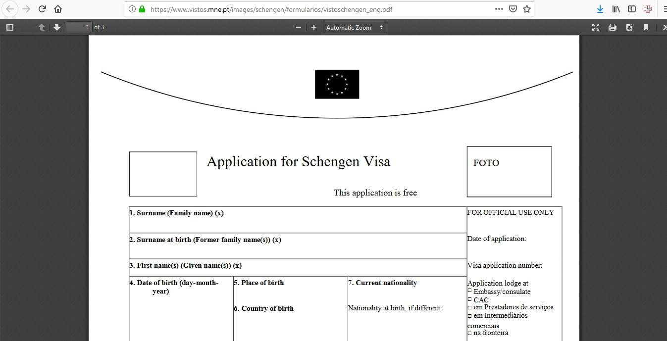 Portugal Schengen Visa NYC New York Consulate Application Form5