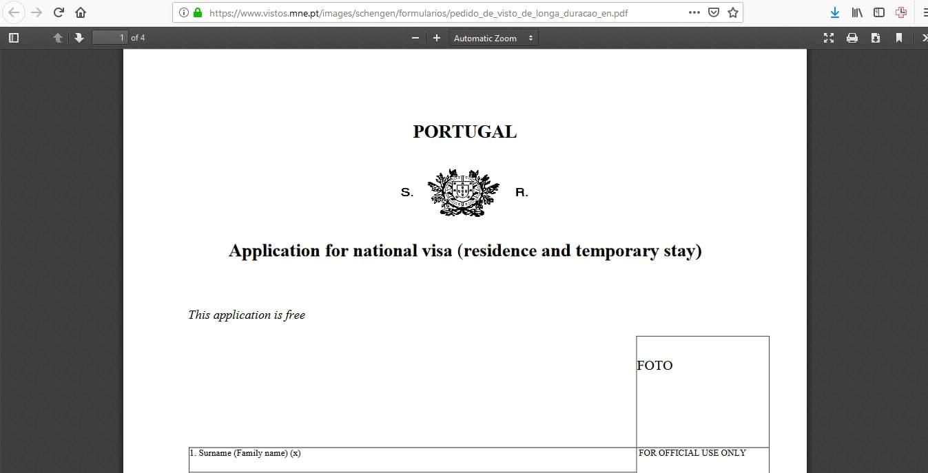 Portugal Schengen Visa NYC New York Consulate Application Form8