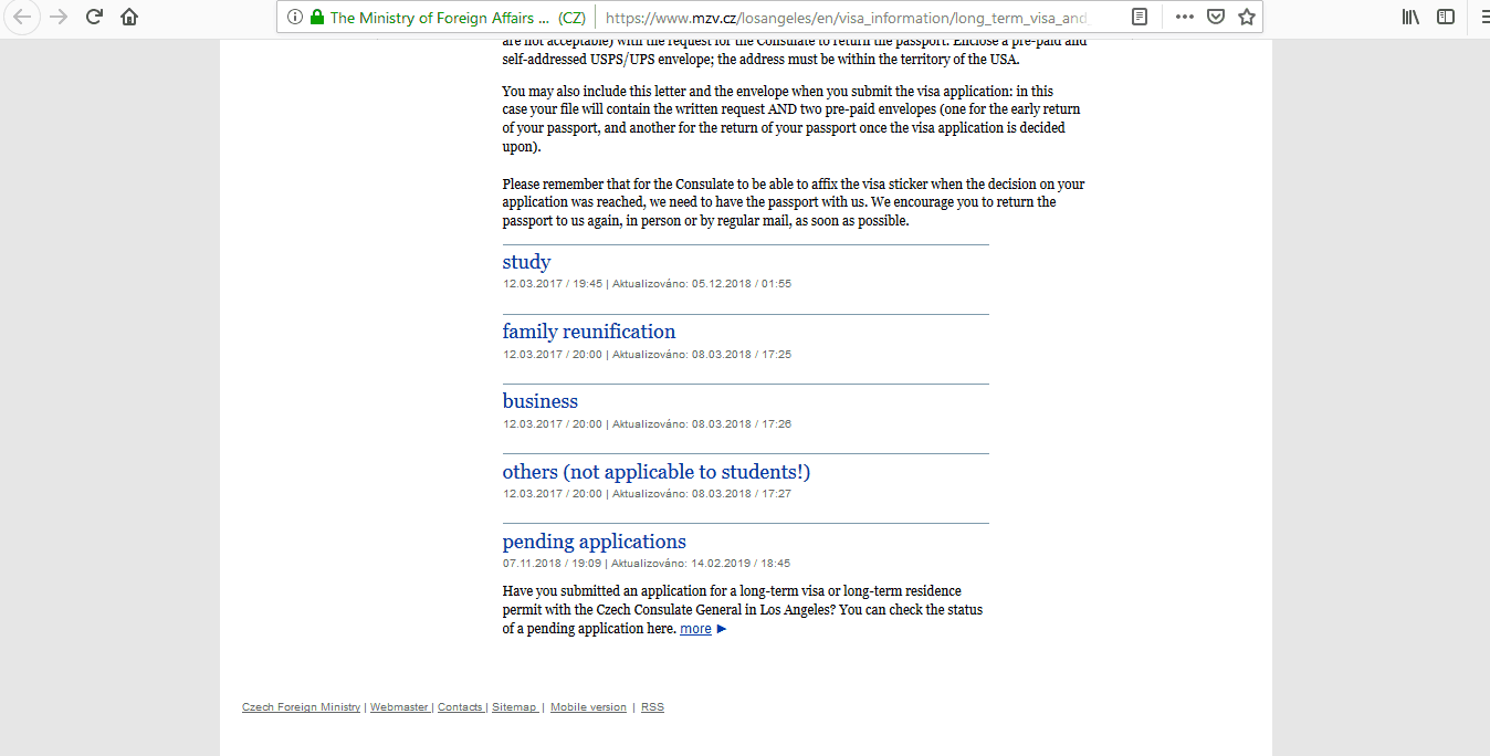 Czech Republic Schengen Visa Los Angeles Consulate Application Form3