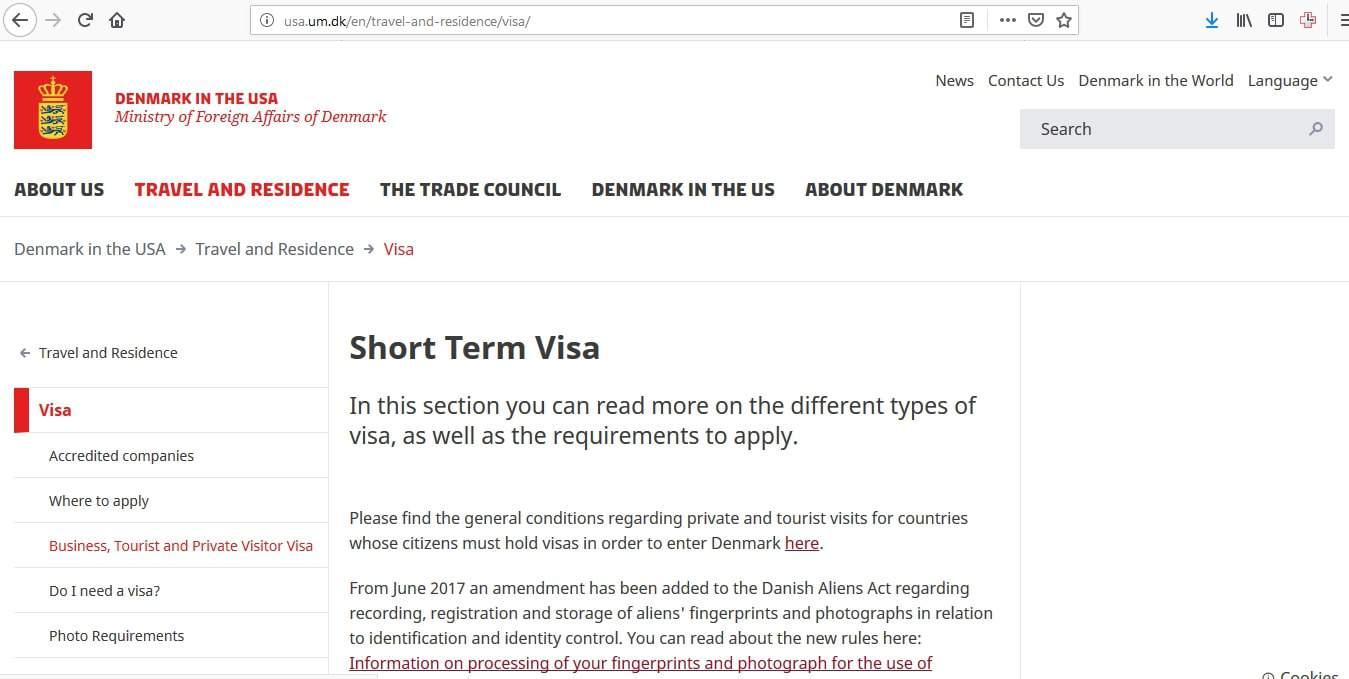 Denmark Schengen Visa Chicago Consulate Application Form1