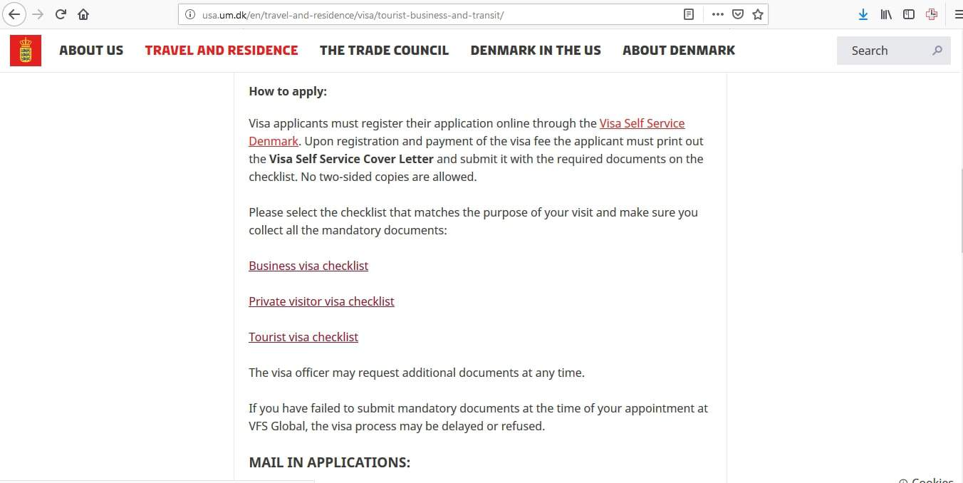 Denmark Schengen Visa Chicago Consulate Application Form2