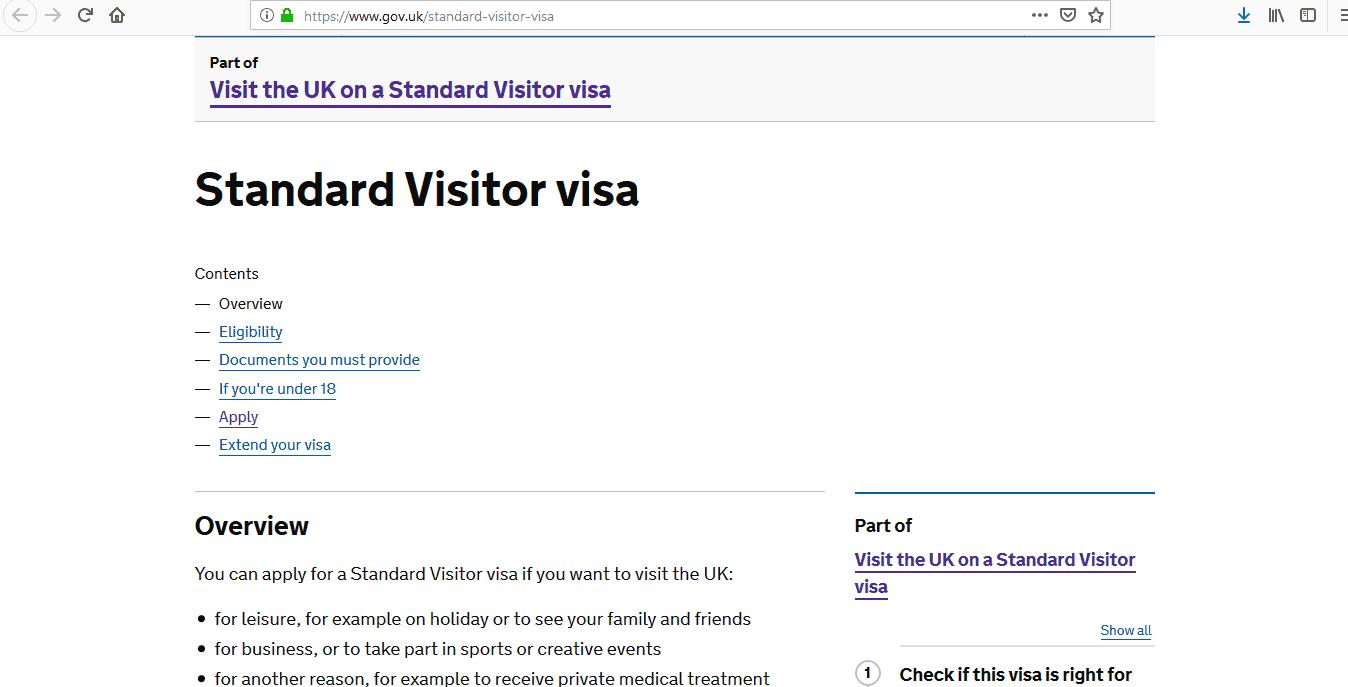 ICC Cricket World Cup 2019 UK Standard Visitor Visa