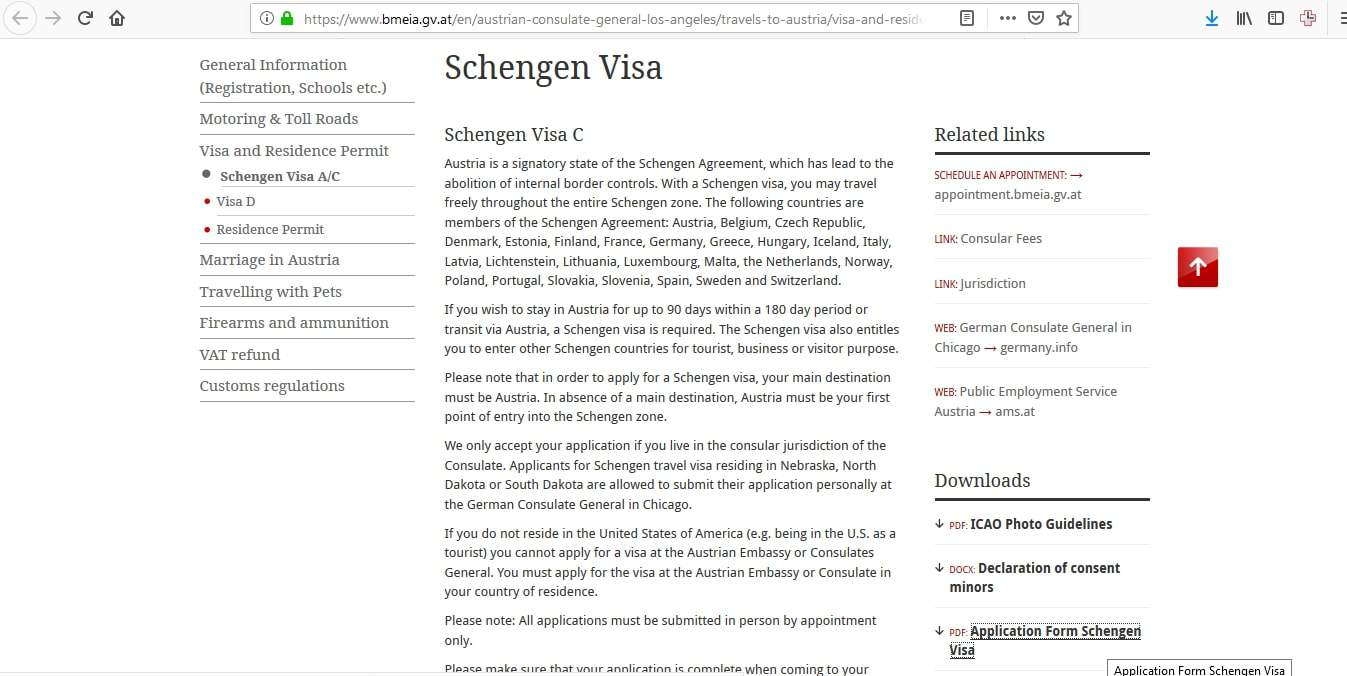 Slovakia Schengen Visa Los Angeles Consulate Application Form2