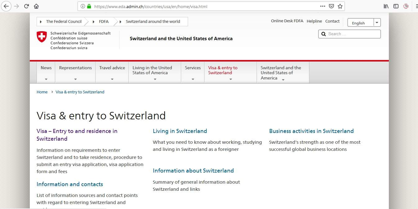 Switzerland Schengen Visa Chicago Consulate Online Application
