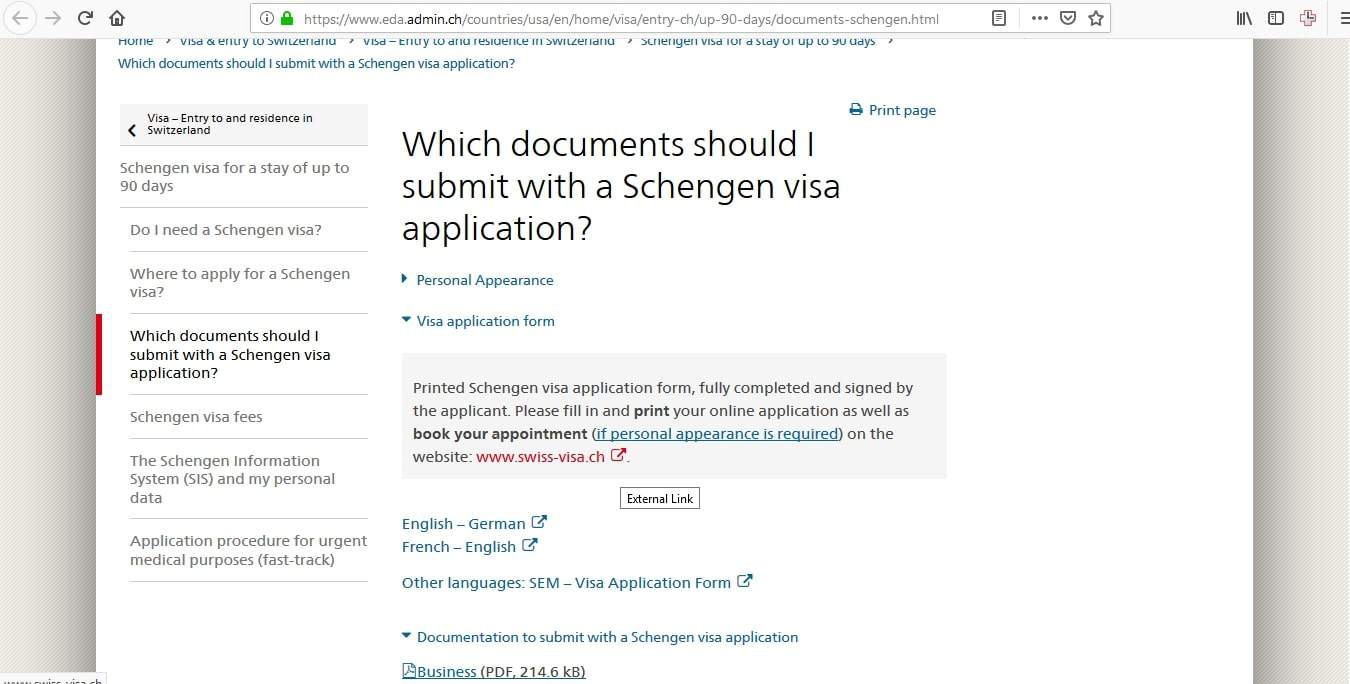 Switzerland Schengen Visa Chicago Consulate Online Application3