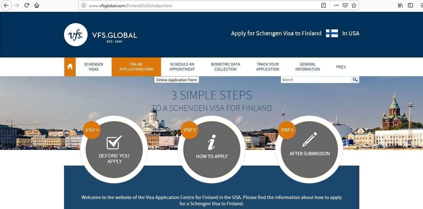 Finland Schengen Visa San Francisco Consulate Application Form