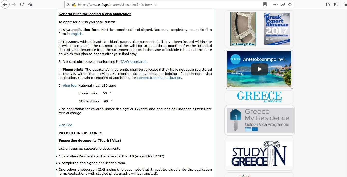 Greek Consulate Atlanta - 4 Easy Steps to Apply for Greece