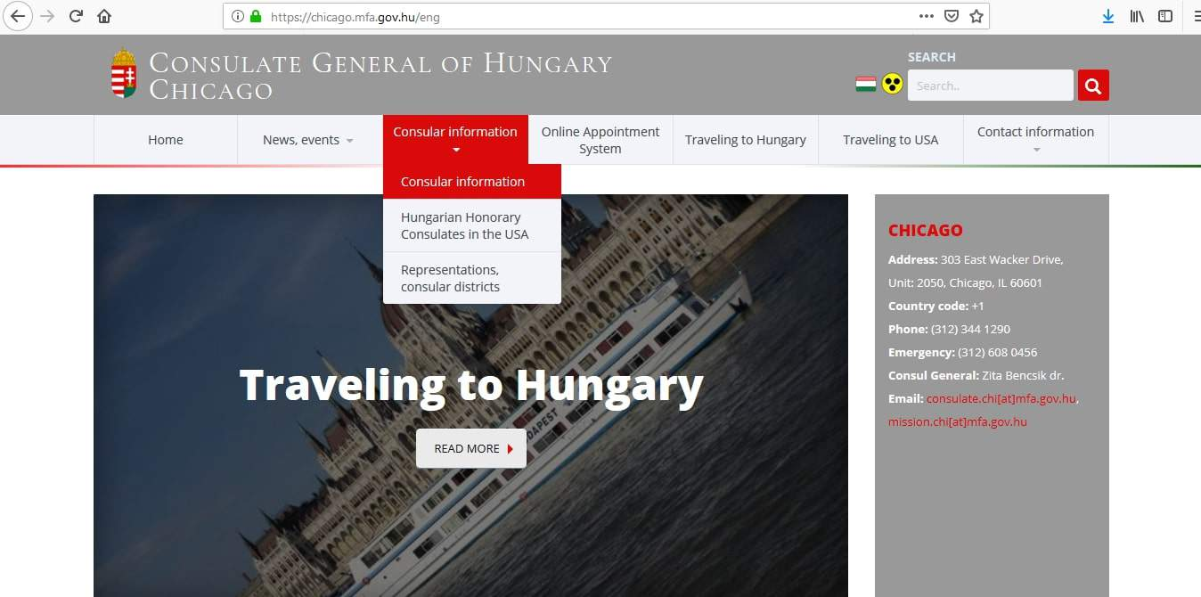 Hungary Schengen Visa Chicago Consulate Application Form
