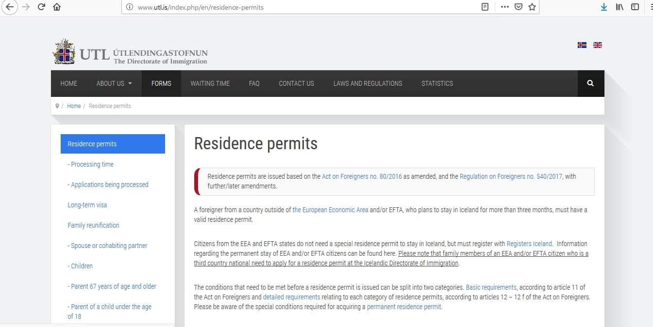 Iceland Residence Visa Washington DC Embassy Application Form2