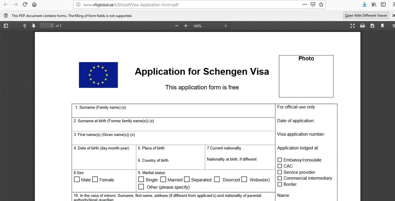 Iceland Schengen Visa Washington DC Embassy Application Form3