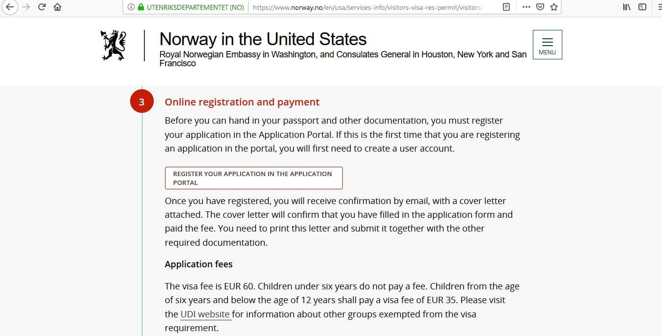 Norway Schengen Visa Chicago Consulate Application Form2