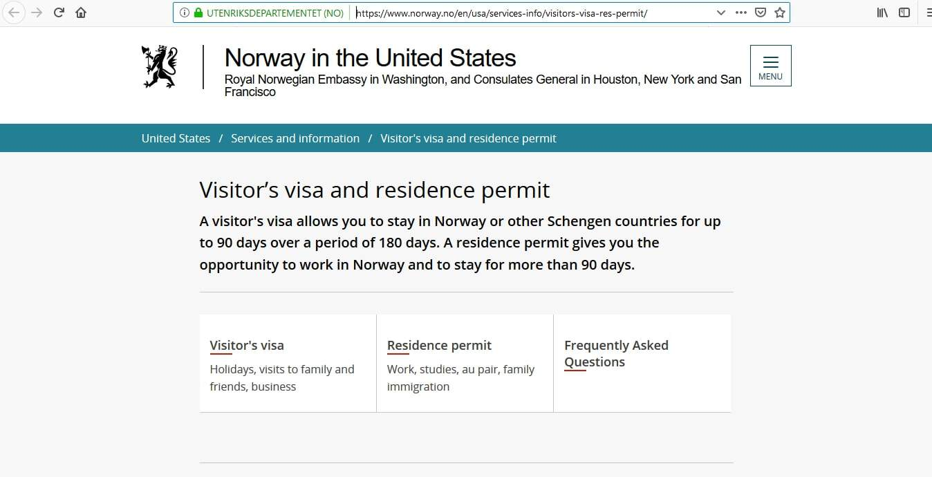 Norway Schengen Visa Washington DC Embassy Application Form1