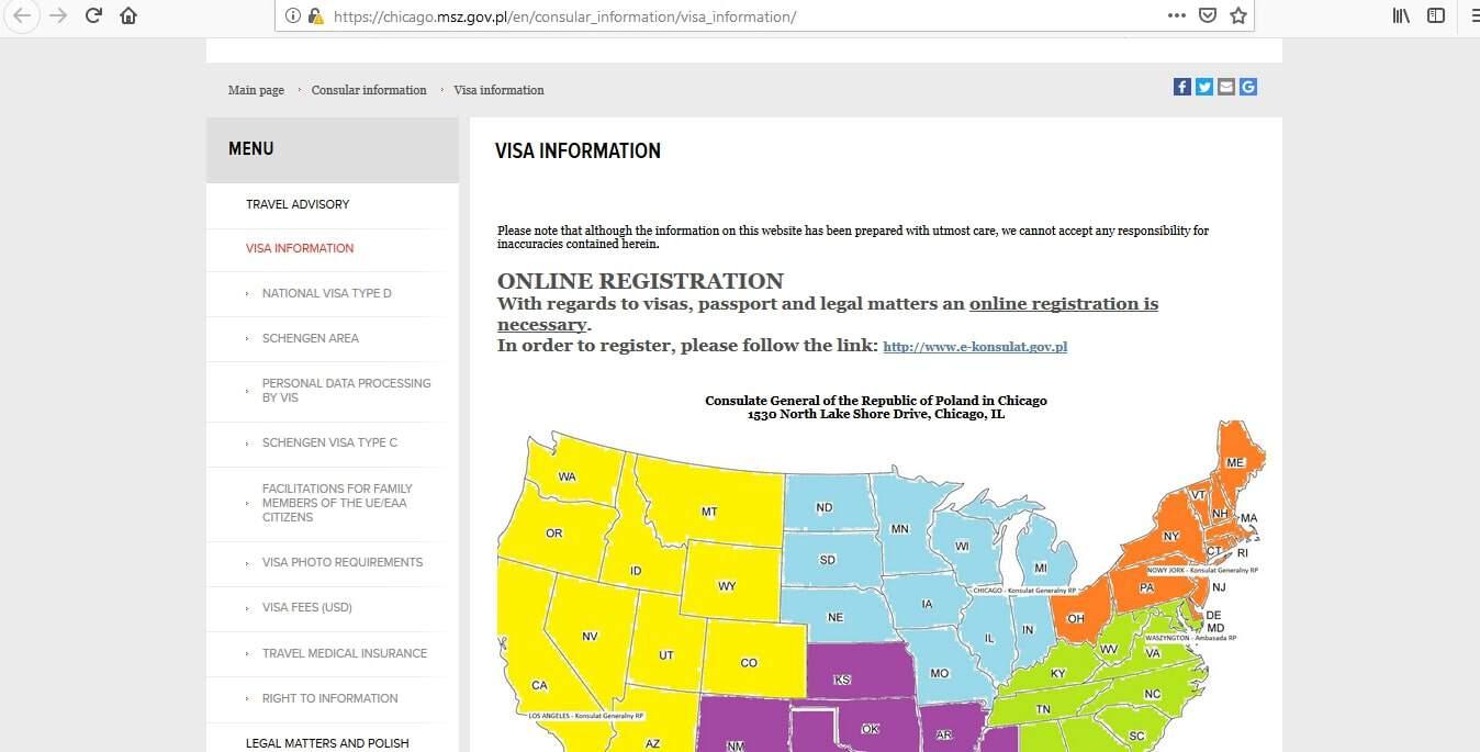 Poland Schengen Visa Chicago Consulate Application Form1