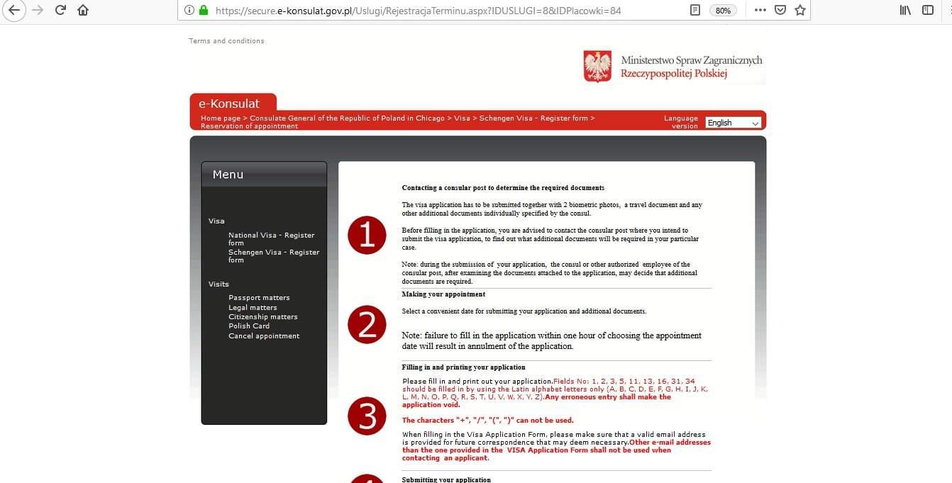 Poland Schengen Visa Chicago Consulate Application Form4