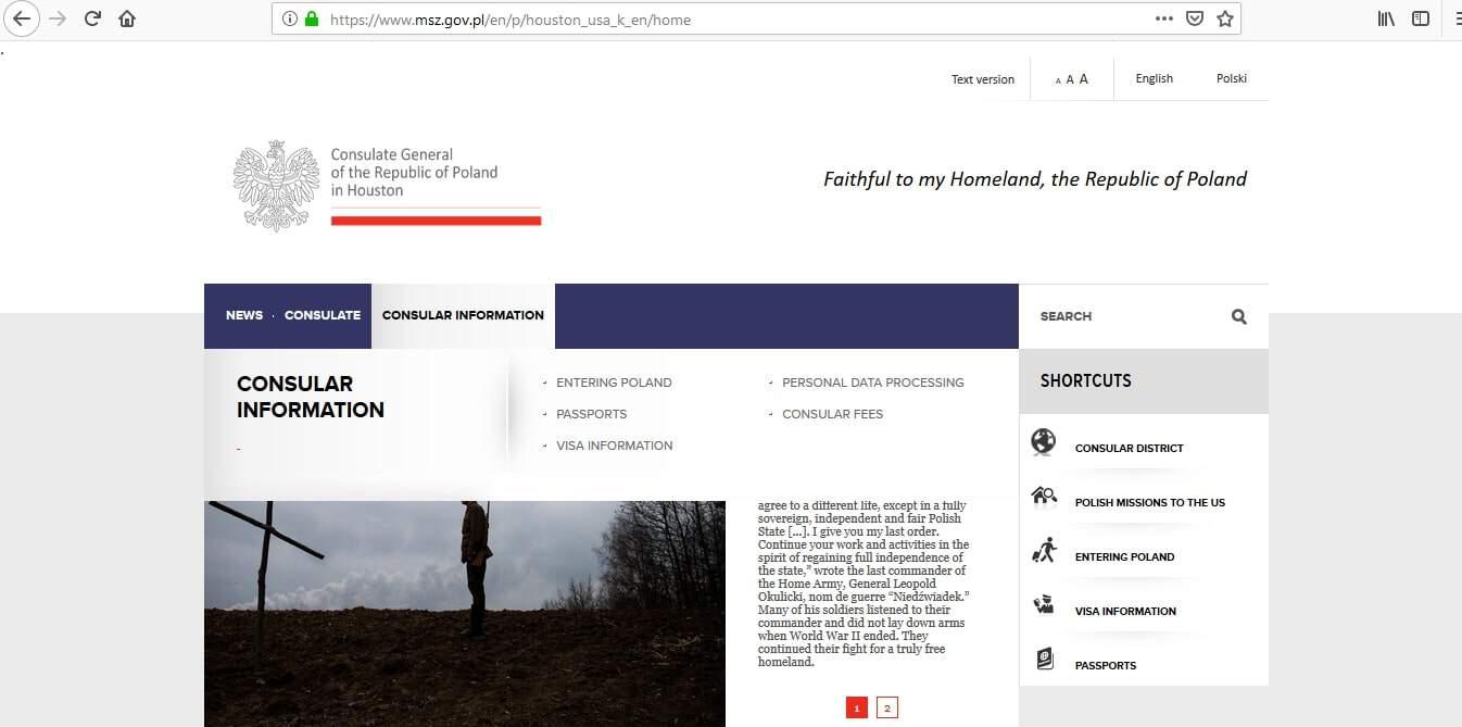 Poland Schengen Visa Houston Consulate Application Form