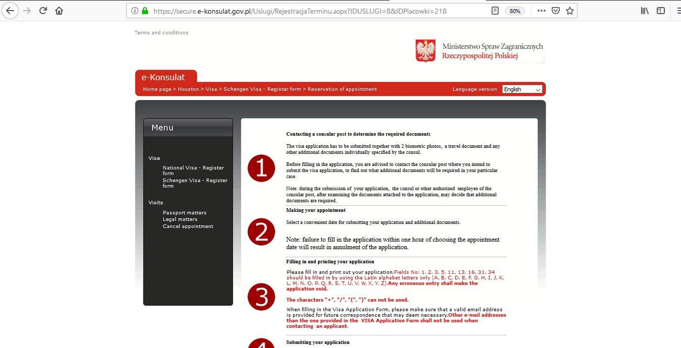 Poland Schengen Visa Houston Consulate Application Form5