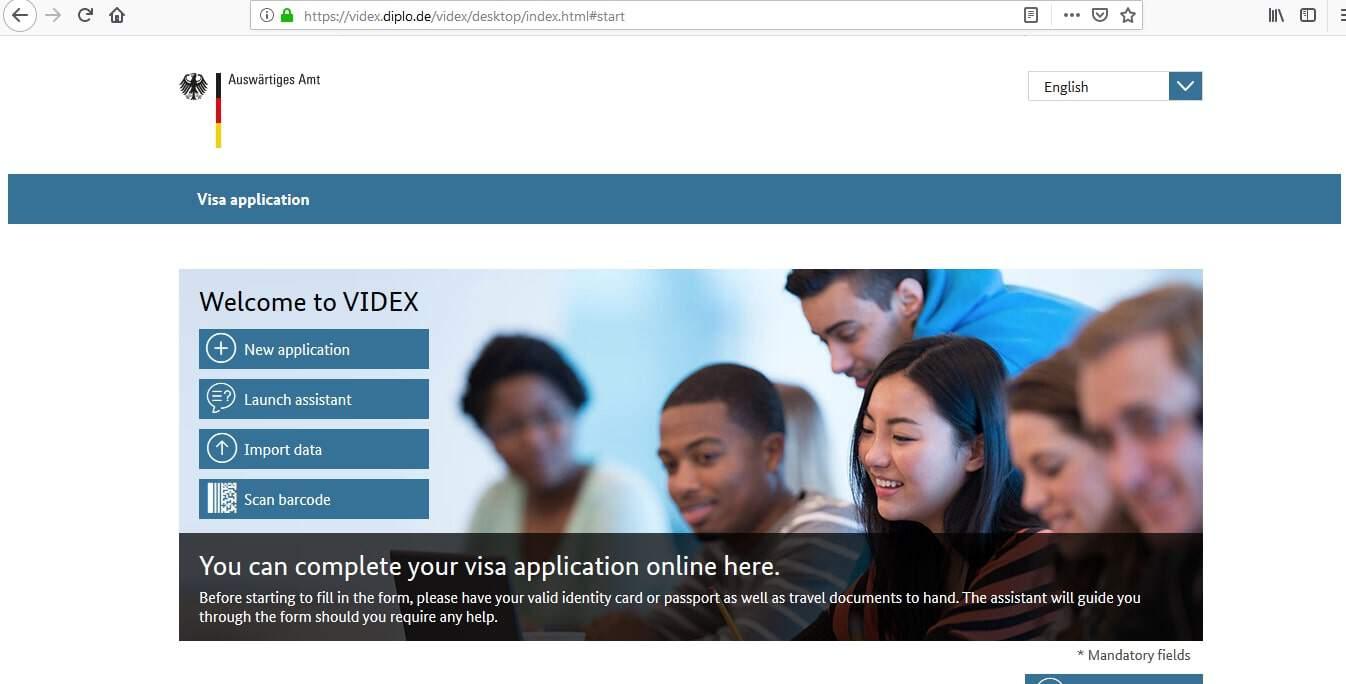 Germany Schengen Visa from UK Application Form2