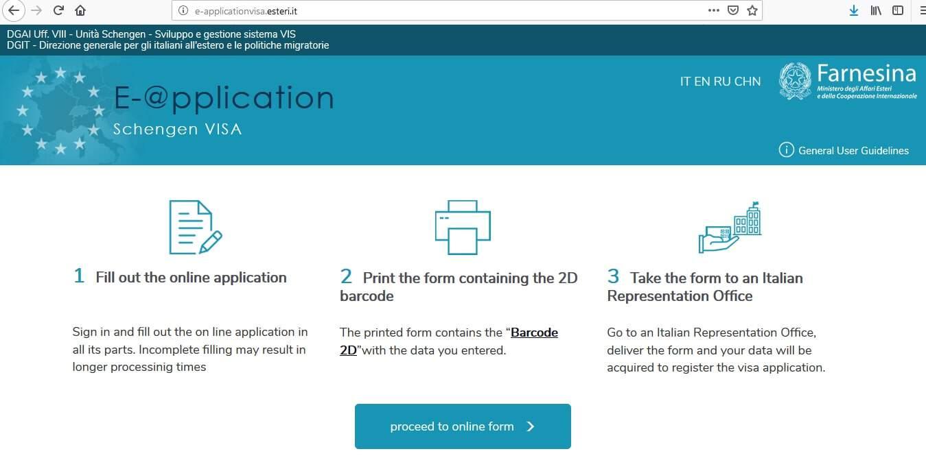 Italy Schengen Visa From UK Application Form2